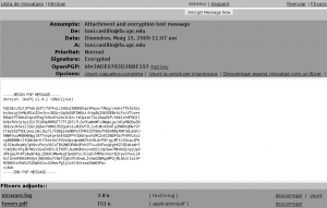 Reading an encrypted email