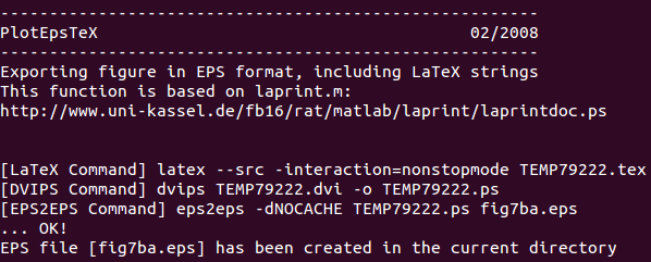 Running plotepstex again, this time without using the Matlab libfreetype.so library.